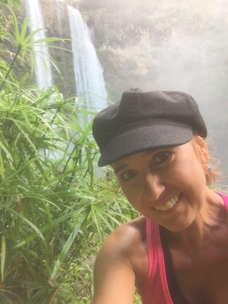 Look Up from Wailua Falls in Kauai