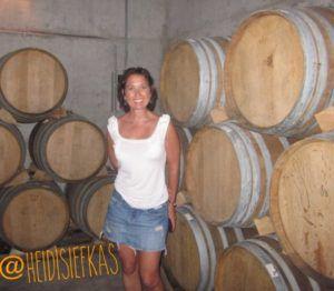 Heidi_SIefkas_and_Mendoza_Wine_Barrels