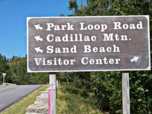 Acadia_National_Park_Road_Sign