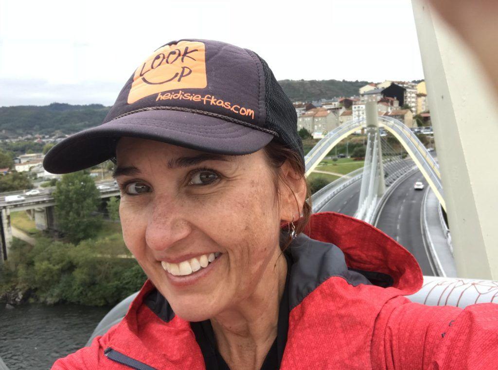Climbing_the_Millenium_Bridge_with_Heidi_Siefkas_in_Ourense_Spain