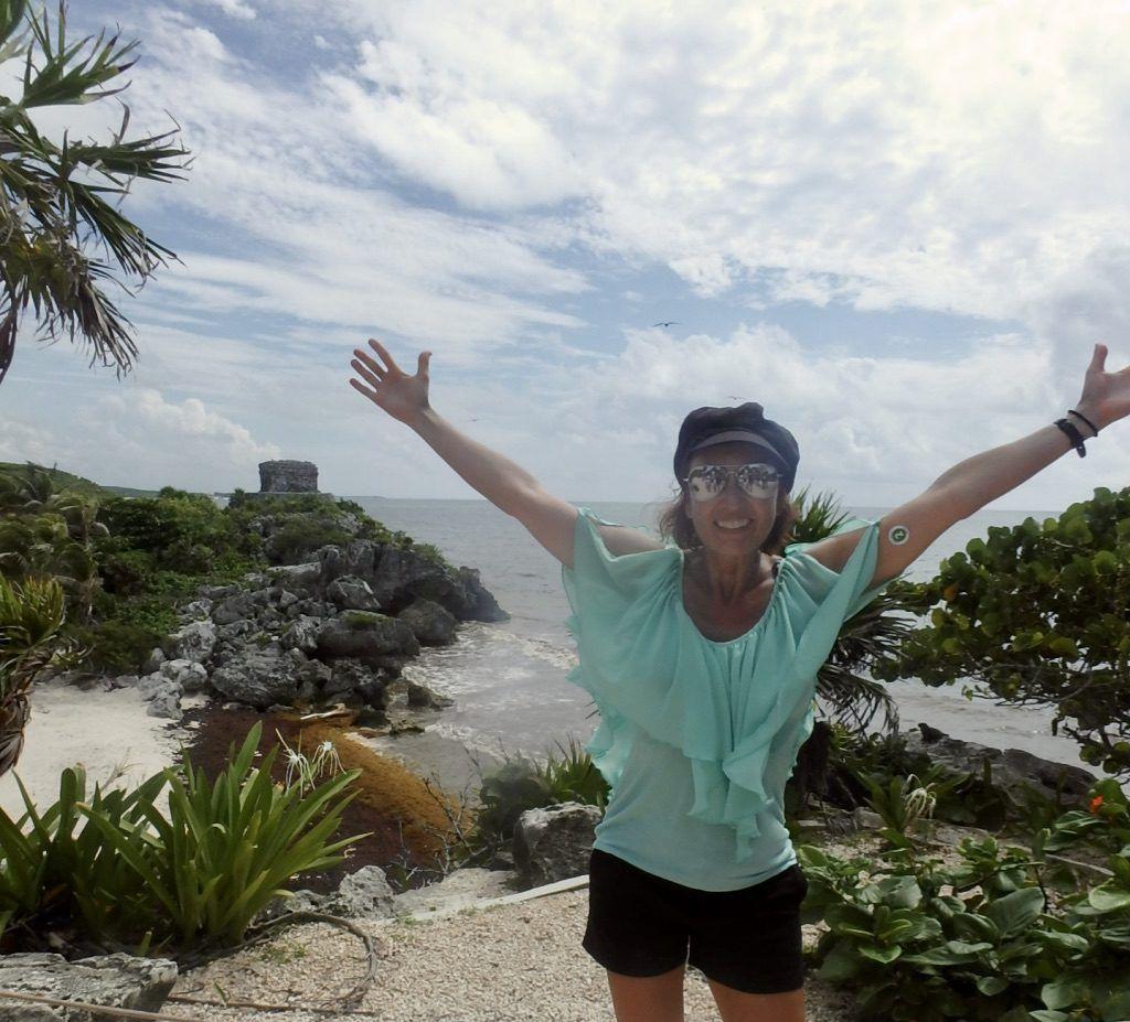 Author_Heidi_Siefkas_at_Tulum_Ruins_Yucatan_Mexico