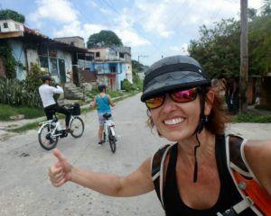 Author_Heidi_Siefkas_on_an_electric_bike_tour_of_Havana_Cuba