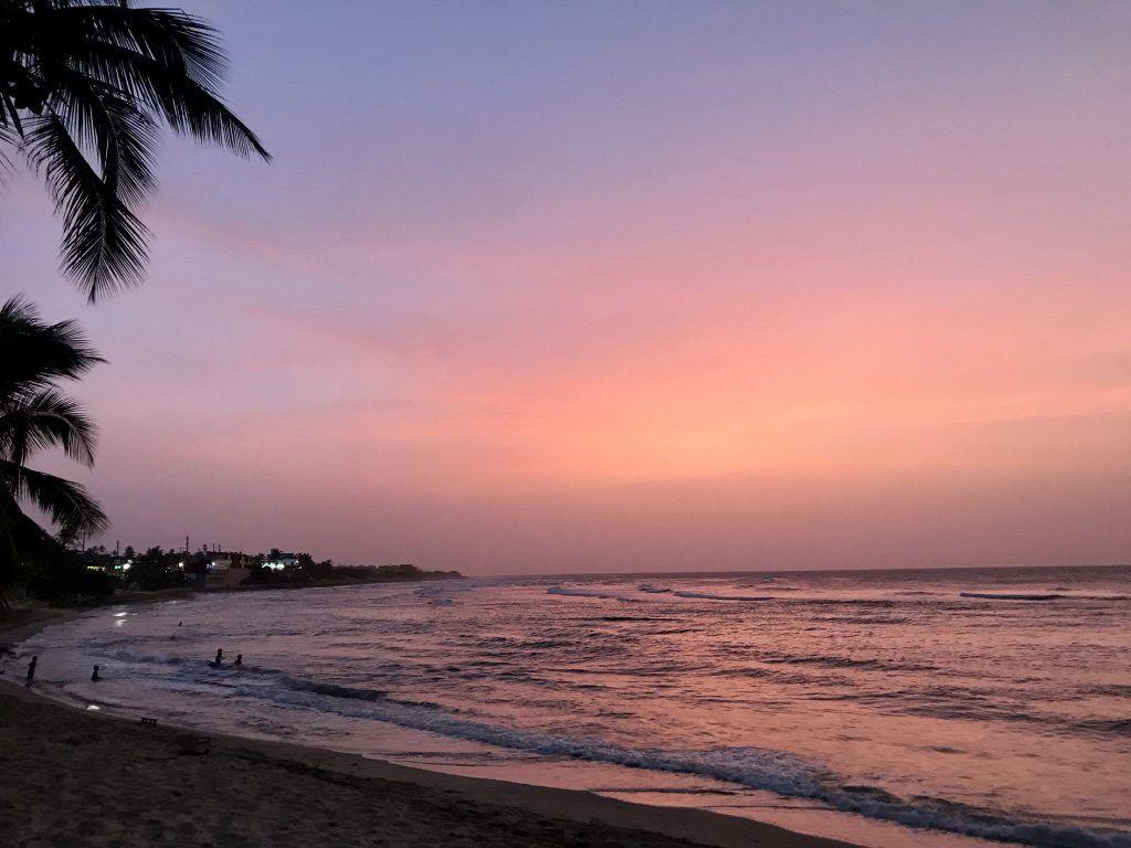 Pink_Sunset_Jobos_beach_puerto_rico_by_author_heidi_Siefkas