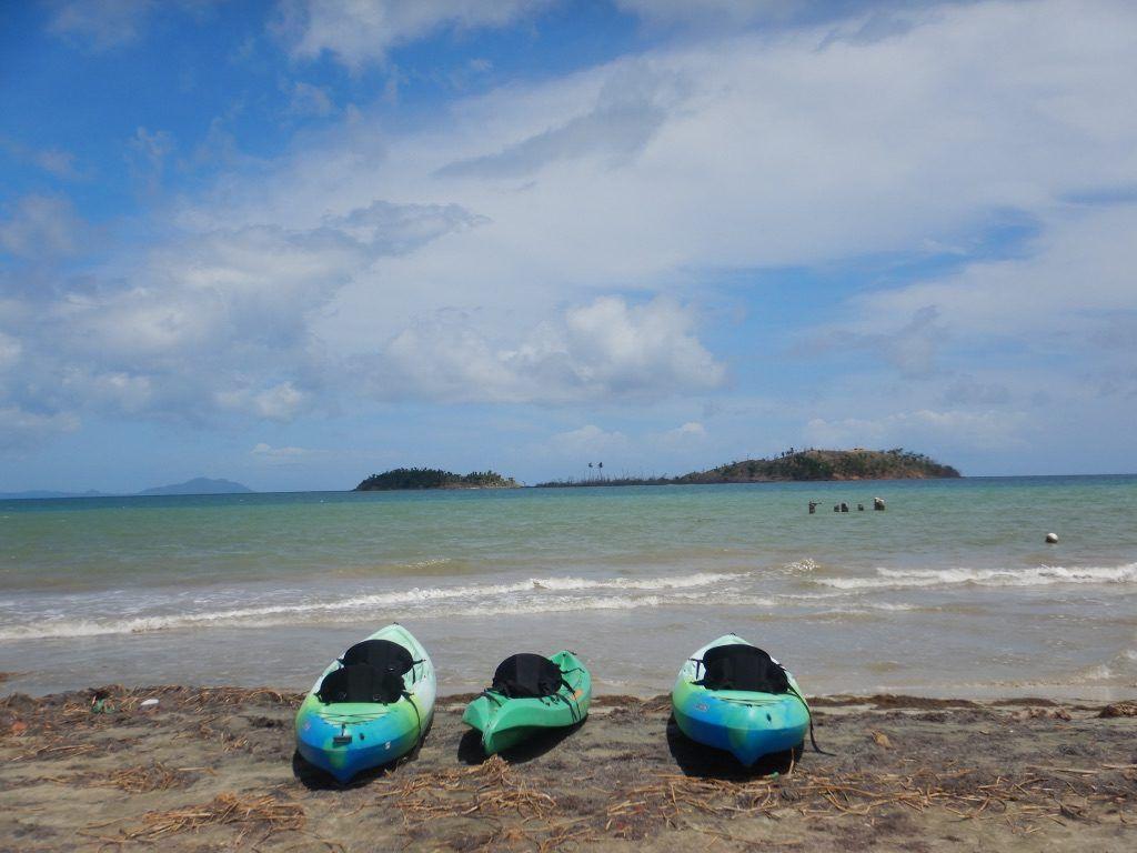 Three_Kayaks_ready_for_Monkey_Island_puerto_rico_by_Author_Heidi_Siefkas