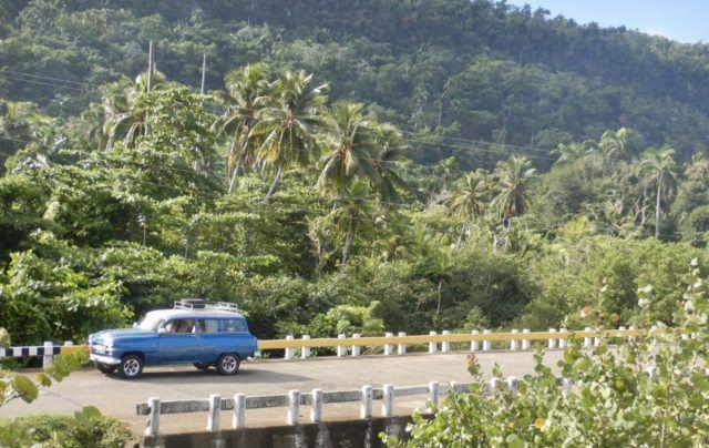 Driving a '54 Plymouth in Baracoa, Cuba